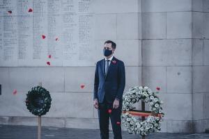 Le Premier ministre De Croo commémore l'Armistice à la Porte de Menin à Ypres