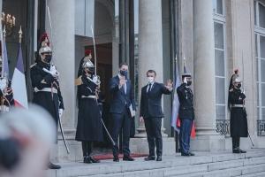 Ontmoeting met de Franse president Emmanuel Macron