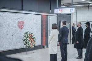 Herdenking van de slachtoffers van de aanslagen van 22 maart 2016
