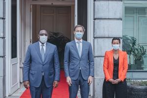 Bilaterale ontmoeting met Macky Sall, president van Senegal