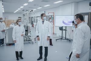 Werkbezoek aan vaccinproducent Pfizer in Puurs