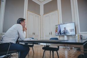 Entretien avec le Premier ministre espagnol Pedro Sánchez Pérez-Castejón