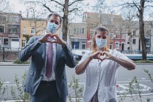 Eerste Minister Alexander De Croo bedankt alle verpleegkundigen