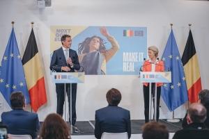 Plan voor Herstel en Veerkracht: toespraak Alexander De Croo op perspunt met von der Leyen