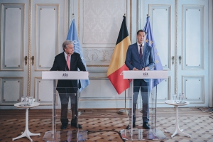 Speech of the Prime Minister at the press stakeout with UN Secretary General Antonio Guterres
