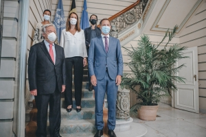 Ontmoeting met VN secretaris-generaal Antonio Guterres