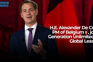 Alexander De Croo neemt rol op als 'Global Leader' in Generation Unlimited (UNICEF)