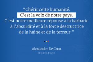 Discours 22/03 : 'La voix de notre pays est l'humanité'