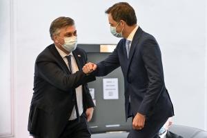 Bilaterale ontmoeting met de eerste minister van Kroatië, Andrej Plenkovic